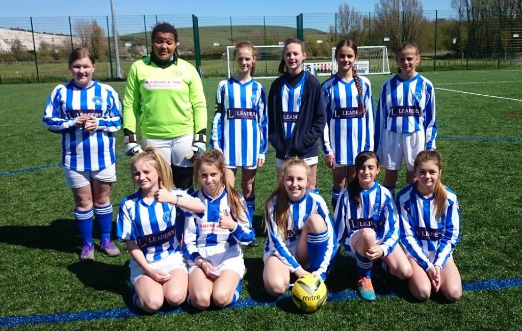 Horsham sparrows Under 13 girls team - 2015-16 season