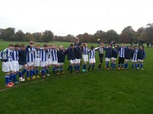 U11 Boys before kick off