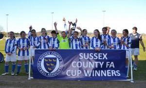 Sparrows U14 Girls - County Cup winners 2014
