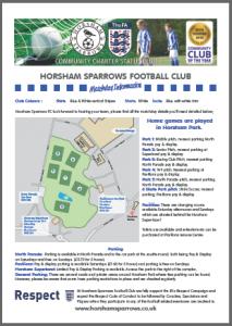 Match day information - Horsham Park